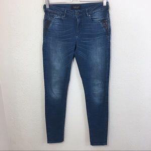 Scotch & Soda La Bohemienne Mid Rise Skinny Jeans